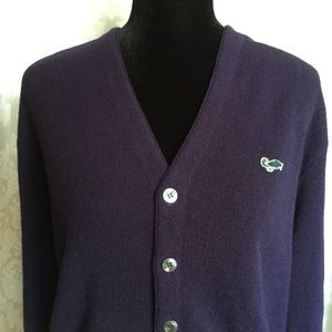 """Other - """"Vintage Turtle"""" Navy Blue Cardigan Sweater M"""